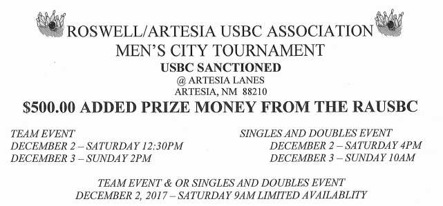 2017 Men's City Tournament