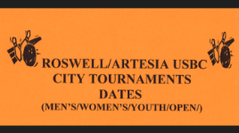 Roswell Artesia USBC City Tournament Dates