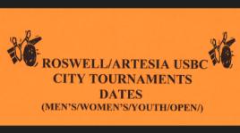 Roswell Artesia USBC City Tournament Dates